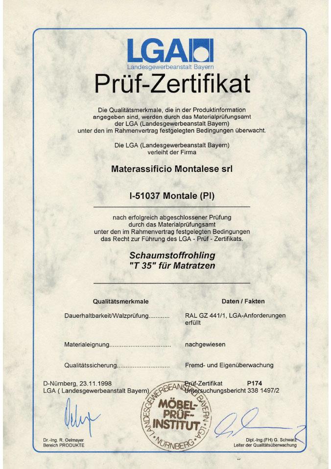Certifikát logo LGA