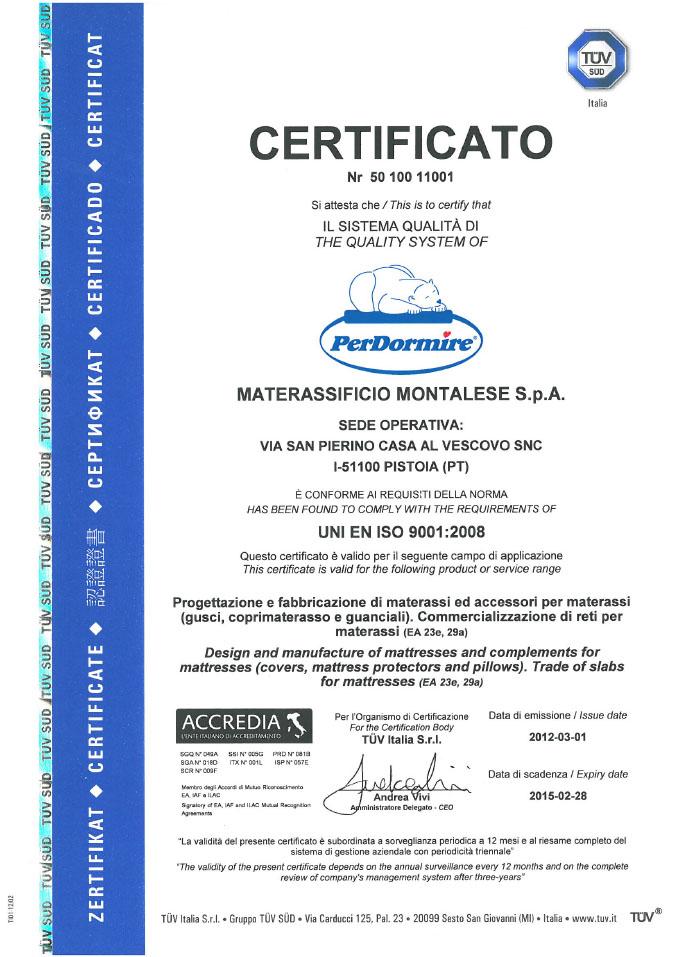 certifikát PerDormire